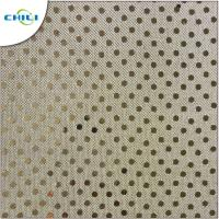 Wholesale Multi Color Glitter Fabric Sheets , Silver Glitter Fabric Fashionable For Shoes Lining from china suppliers