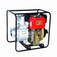 China 4-inch Diesel Water Pump with 6.5kW Rated Output Power and 186FA Engine on sale