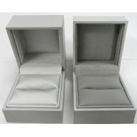 Wholesale Plastic mould ring box, Leatherette paper covered,felt lining, logo printed from china suppliers