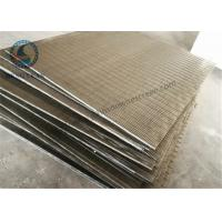Buy cheap Stainless Steel 304 316 Wedge Wire Screen V Shape Slot Screen Panels 1219 mm from wholesalers