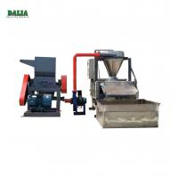 China Water Type Scrap Cable Recycling Machine , Copper Wire Granulator With Belt Conveyor on sale