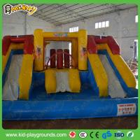 Inflatable Water Slide To Rent: Huge PVC Tarpaulin Inflatable Slide , Big Water Park