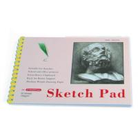 China White Paper Pencil Sketch Pad Drawing Book , Spiral Sketch Drawing Pad on sale