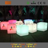 Wireless remote control led cube shape bar stool furniture for How to change color of furniture