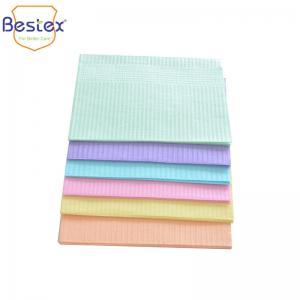 Wholesale Splash Resistant PE Film Paper Waterproof Dental Bibs from china suppliers