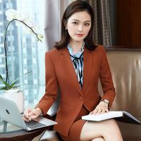 Wholesale Long-Sleeved Slim Fit Women's Suit Autumn Winter Trousers Suit Business Workwear Suit from china suppliers