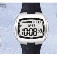 Wholesale Quartz Gents Digital Watch / Plastic Waterproof Black Watches For Men from china suppliers