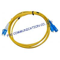 Wholesale FTTH Fiber Optic Patch Cord Low Insertion Loss LC - SC Duplex from china suppliers