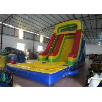 Wholesale Customized Large Inflatable Water Slides , Blow Up Pool Slides For Inground Pools from china suppliers