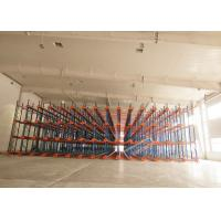 Wholesale 1000 Depth Shuttle Metal Pallet Racks Remote Controlled For Frozen Meat / Beverage Storage from china suppliers