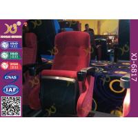 China IMAX Cinema Powder Coated Movie Theater Chairs With Popcorn Holder on sale
