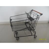 Wholesale Metal Supermarket Shopping Carts With Handle Logo Printing And 4 Swivel Casters from china suppliers