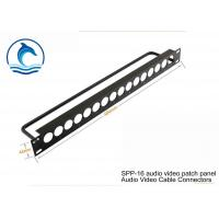 "Wholesale 19"" 1U SPP-16 Metal Audio Video Patch Panel High Density Patch Panel Black Color from china suppliers"