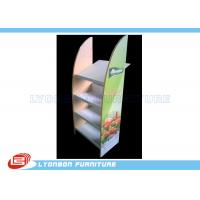 Buy cheap Colorful MDF Floor Display Rack Stand Metal Shelf For Vegetable Selling from wholesalers