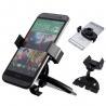 Adjustable Samsung Car Phone Holder , ABS Black Car CD Slot Mount Manufactures