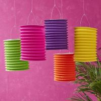 Wholesale Spring Lampion Paper Lanterns Craft , Outdoor Hanging Paper Candle Lanterns 10 X 15 Cm from china suppliers