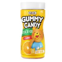 Wholesale Funny Shape Natural Gummy Vitamins , Orange Gummy Candy 200g Per Bottle from china suppliers