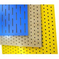 Wholesale Fireproof Slot Perforated Wood Sheets Restaurant Acoustic Wood Panels from china suppliers
