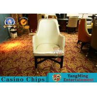 Wholesale Oak Wood Custom Gambling Poker Table Chair / Stainless Steel Metal Pulley Leather Hotel Chair from china suppliers