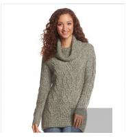 Sweater mixed line pile collar sweater knit dress high quality sweater