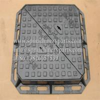 China Heavy Duty Sand Cast Ductile Iron Double Triangular Manhole Cover & Frame Drawing From China on sale