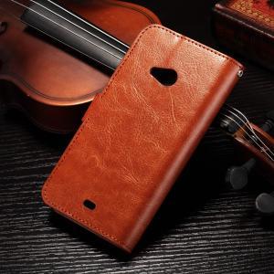 PU Handmade Nokia Lumia Leather Case Flip Cover For Nokia 535 / 540 Anti - Slip