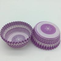 Wholesale Purple Round Shape Muffin Paper Cups, Striped Cupcake LinersFDA SGS Standard from china suppliers