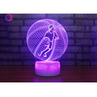Wholesale 3D Illusion Night Light, LED Table Desk Lamps Basketball Nightlights, 7 Colors USB Charge Lighting Bedroom from china suppliers
