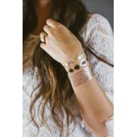Gold foil jewelry temporary tattoo armbands metallic foil for Gold foil tattoo