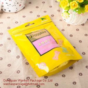 Flat Food Grade Zipper Plastic Bags / Resealable Zip Lock Plastic Bags