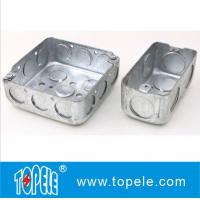 """Wholesale 4"""" 1-1/2'' Deep Steel Square / Rectangular Conduit Outlet Junction Box , Electrical Boxes And Covers from china suppliers"""