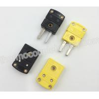 Molded Connectors With Thermocouple Extension Cables : K j type flat pin mini omega thermocouple connectors of