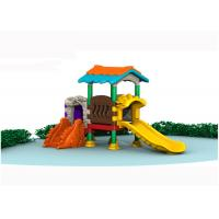 China Tiny Plastic Home Playground Equipment / Plastic Outdoor Slide Set For 1-2 People on sale