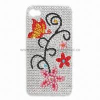 Wholesale Crystal/Acrylic Sticker for Mobile Phone Decoration, Measures 5.5 x 9.5cm from china suppliers
