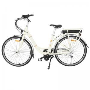 Adjustable Handle Mid Motor Electric Bike , Ladies Electric Bike With LED Mode Display
