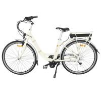 Quality Adjustable Handle Mid Motor Electric Bike , Ladies Electric Bike With LED Mode Display for sale