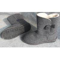 Wholesale Warm 100%  Wool Felt Boots and Shoes with 2mm - 3mm Thickness from china suppliers
