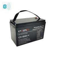 Wholesale High Capacity Bluetooth Lithium Battery 12v 80ah Lifepo4 Battery from china suppliers
