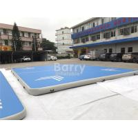 Wholesale Custom Square Large Blue Air Track Gymnastics Tumbling Mat For Cheerleanding Or Sport from china suppliers