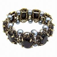 Wholesale Black stone pearl bracelet from china suppliers