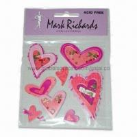 Wholesale Bubble Heart-shaped Epoxy 3D Stickers, Available in Various Styles from china suppliers
