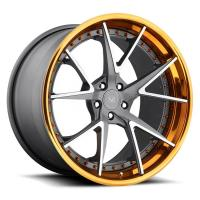 Wholesale For Audi RS6 18 21 22 inch Alloy Gold Machined Face 3 Piece Forged Wheel Rims from china suppliers