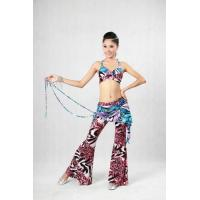 China Belly Dancing Clothes Erogenous Halter Bikini Top Leotard Bar With Flower Straps on sale