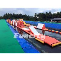 Inflatable Water Park Inflatable Water Obstacle Course Size 20 X 6m Used In Steal Frame Pool