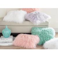 Retangular Single Sided Mongolian Fur Pillow Zipper Closure For Home Textile Sofa