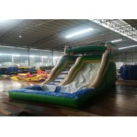 Wholesale Commercial Inflatable Water Slides , 0.55mm Pvc Bounce House 5-10 People from china suppliers