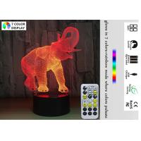 Wholesale Christmas Gifts for Girls Boys 3D Illusion Night Lamp Bedroom Elephant Customized Design from china suppliers