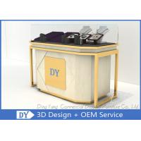 Wholesale Lockable Retail Jewelry Store Display Counter With OEM Logo Gold + Veneer Color from china suppliers