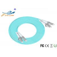 China 10 Meters Fiber Optic Accessories LC PC Patch Cord Duplex OM3 Multi Mode on sale