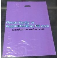 China Custom print ldpe hdpe die cut handle carry poly apparel plastic merchandise gift packaging polythene shopping bag with on sale